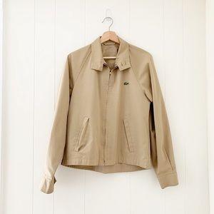 SALE! Vintage Lacoste camel windbreaker jacket